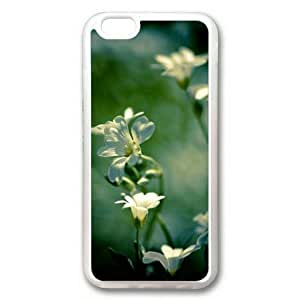 Armener iPhone 6 Plus (5.5 inch) Transparent Sides Rubber Shell TPU Case With Pure White Flower