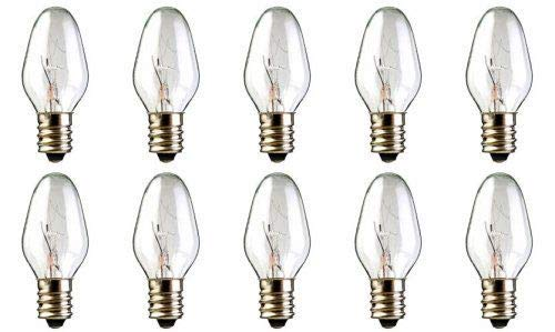 10 Pack 15 Watt 120V Light Bulbs for Scentsy Plug-In, Nighttime Warmer, Wax Melts Scented Candle Wax