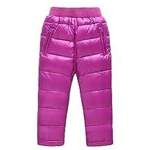 Roffatide Baby's Down Pants Puffer Trousers Windproof Kids Boys Girls Snow Winter