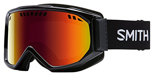 Smith Optics Scope Adult Airflow Series Snow Snowmobile Goggles Eyewear - Black/Red Sol X Mirror / - Sol Eyewear