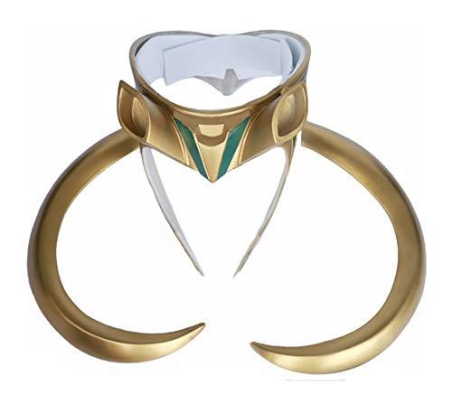 Yacn Loki Helmet with Horns,Norse God Loki Crown Loki Mask Movie Thor Ragnarok for Halloween (audlt)