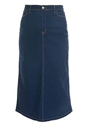 s indigo stretch denim maxi skirt sizes 10 to