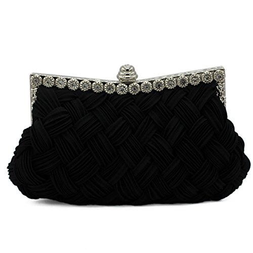 XY Fancy - Cartera de mano para mujer negro negro, gris (gris) - RH#BB1010-1348-SNB27 negro