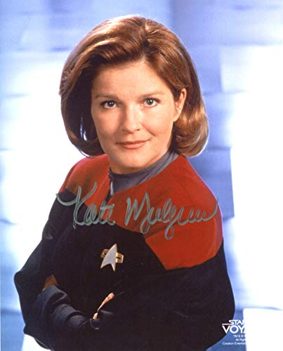 Kate Mulgrew Signed/Autographed Star Trek Voyager 8x10 glossy photo as Captain Kathryn Janeway. Includes FANEXPO Certificate of Authenticity and Proof. Entertainment Autograph Original.