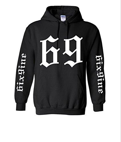 ThTshack Adult Hoodie 6ix9ine 69 Trendy Top Cool Stuff Popular Hot Sweatshirt (Small, Black)
