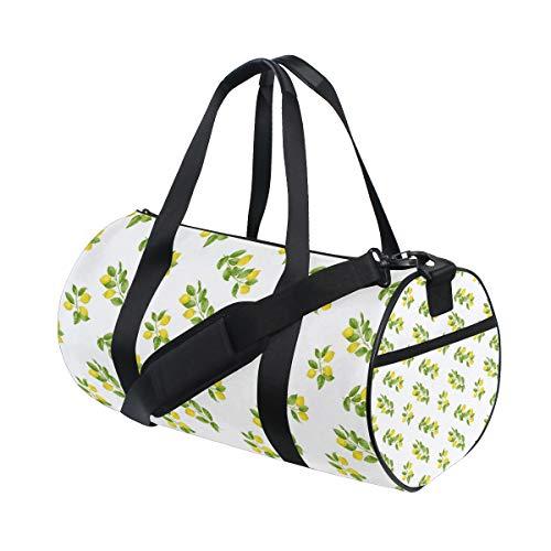 Long Lemon The Leaves Water Resistant Sports Gym Travel Weekender Bag Men&women Duffel Bag
