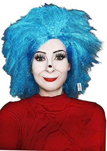 Kids Thing 1 Wig Blue Wigs Morty Wig Costume Cosplay Wigs | Fits Child Men Women]()