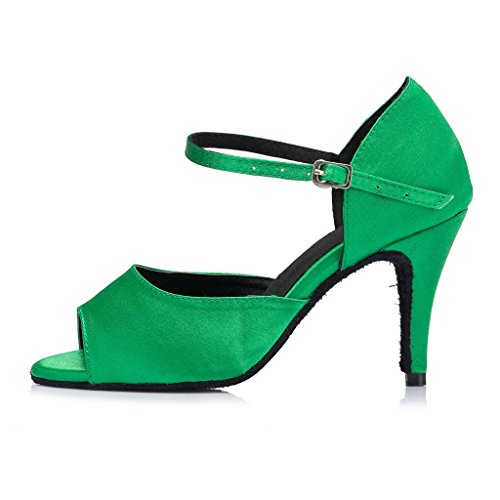 Women's Dress Green Sandals Satin Fashion Jane Mary Eveing Party Wedding Kevin F15w8PqP