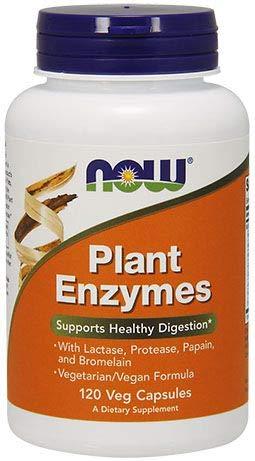 Enzimas Digestivas de Plantas NOW pote 120 cápsulas