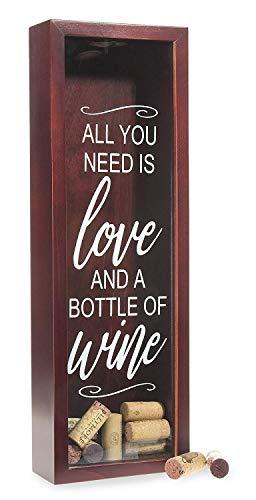 Wine Cork Holder Shadow Box - Holds Over 60 Corks - 16
