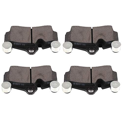 ECCPP Brake Pads, 4pcs Rear Ceramic Disc Brake Pads Kits fit for 2007-2015 Audi Q7,2003-2006 2008-2010 Porsche Cayenne,2004-2010 Volkswagen Touareg