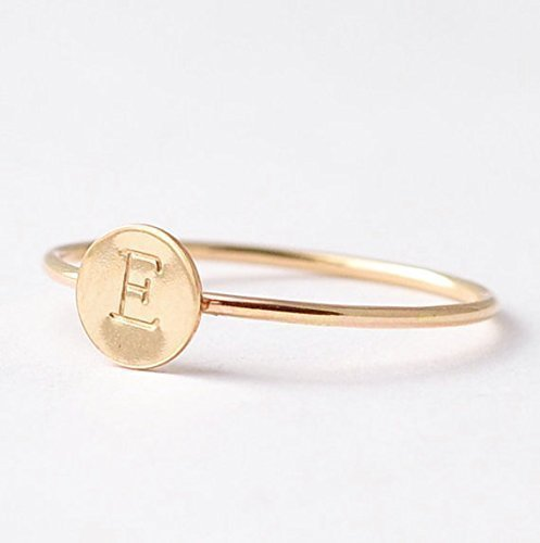 Yellow Gold Filled Initial Ring