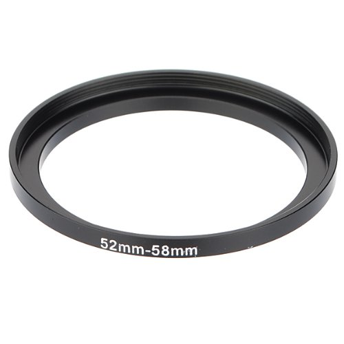 52mm-58mm Metal Step Up Lens Filter Ring Stepping Adapter Black (Stepping Ring 55mm)