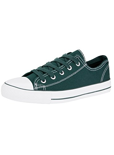 Ultra Tip 6e10b Shoes Rubber with Canvas Green oodji Women's qdUYCqP