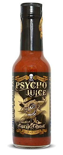 Psycho Juice Hot Chili Sauce Roasted Garlic Ghost (Ghost Chile Extract)