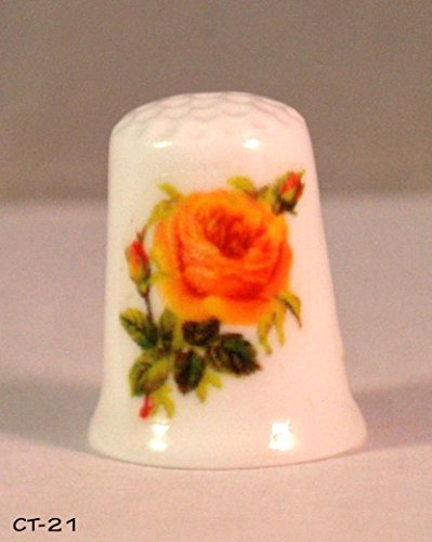 (Collectible Thimble Yellow Rose)
