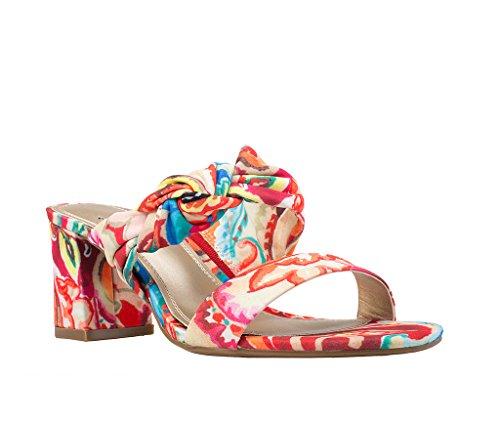 Impo NERIDA Block Heel Sandal, Tropic Multi Boho Bandana Fabric, 8 B(M) US