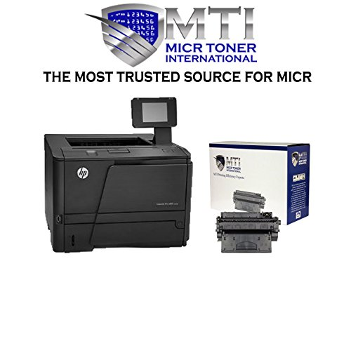 MTI MICR Check Printing Package: HP LaserJet Pro M401n Printer and 1 CF280X MICR Toner Cartridge for check and barcode printing
