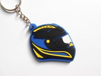 Keychains llavero - Casco - Racing - azul - Yamaha color ...