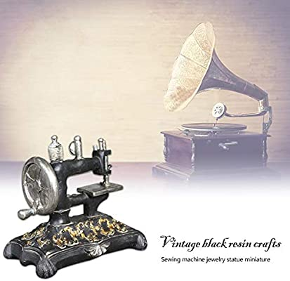 GLOBEAGLE Figura Decorativa en Miniatura de máquina de Coser de Resina Negra Retro: Amazon.es: Bricolaje y herramientas
