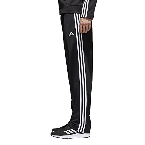 adidas Men's Athletics Essential Tricot 3-Stripe Pants, Black/White, Small by adidas (Image #3)