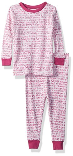 Burt's Bees Baby Baby Girls Story Time Tee and Pant Set, Blossom, 24 Months