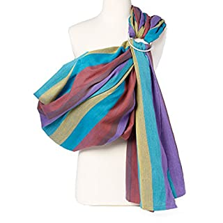 Hip Baby Wrap Ring Sling Baby Carrier for Infants and Toddlers (Rainbow)