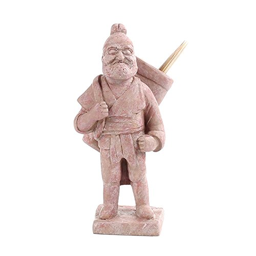The Palace Museum Cultural Products Toothpick Holder Painted Ancient Chinese Man Figurine Brown Color Suitable both for Home Use and Unique Gift (Man)