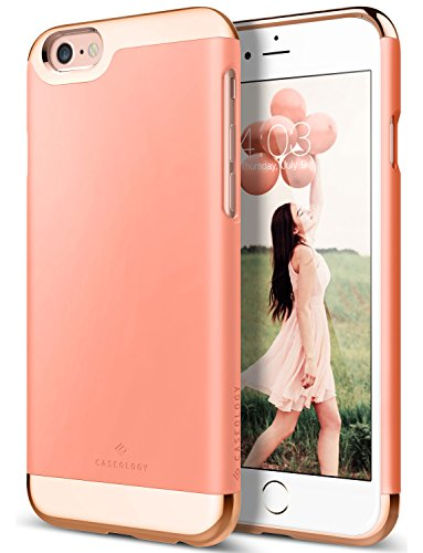 Springs Places Coral (Caseology [Savoy Series] iPhone 6S Plus/iPhone 6 Plus Case - [Stylish Design] - Coral Pink)