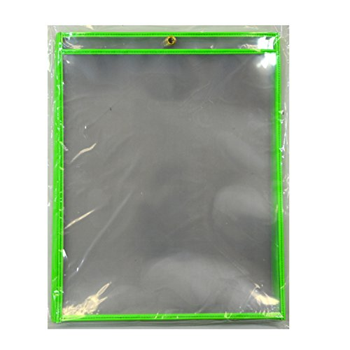 C-Line Stitched Shop Ticket Holders, Both Sides Clear, 11