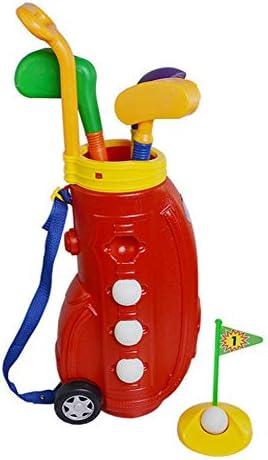 子供ゴルフセット ゴルフおもちゃ キッズゴルフクラブセット、ゴルフおもちゃでゴルフカートの早期教育アウトドアエクササイズ玩具 ゲームレジャーファミリースポーツ (Color : Red, Size : Free size)