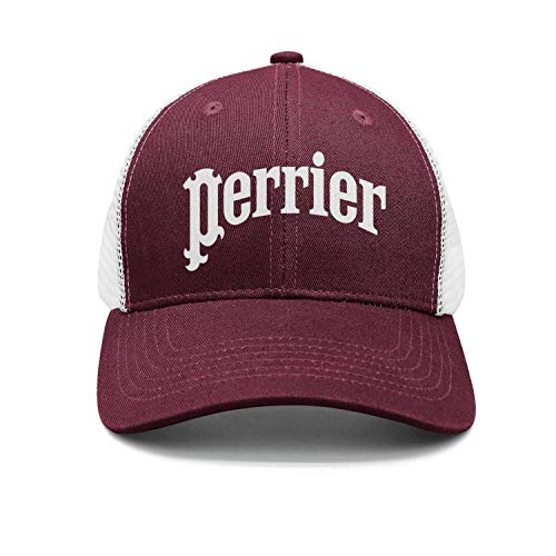 (AINIJIAJ Men/Women Print Classic Perrier-Water-Logo- Youth Flat Brim Trucker Cap)