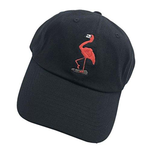 Shengyuan Baseball Cap Flamingo Small Embroidered Dad hats Adjustable Snapback Cotton Hat Unisex (Embroidered Flamingo)