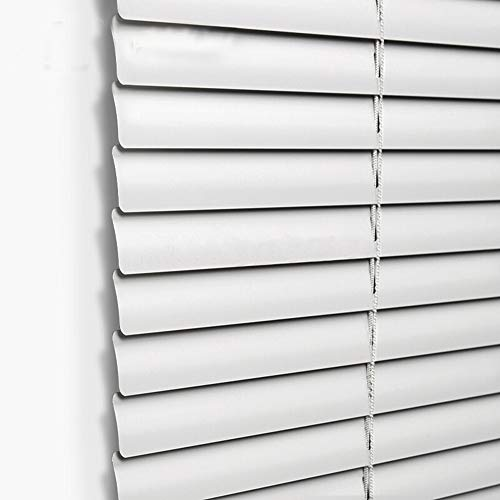 Venetian Window - Taiyuhomes Aluminum Horizontal Window Mini Blinds Blackout Roll up Shades 1 inch Slats with Easy Inside and Outside Mount,39 1/2x64 inch,White