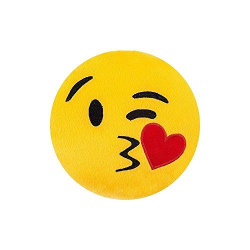 Almofada Emoji 32cm - Enviando Beijo