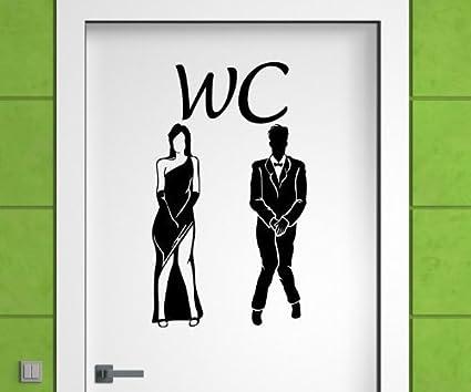 adesivo per porta uomo donna wc sticker toilette gabinetto donne porta bagno adesivo 3d 009