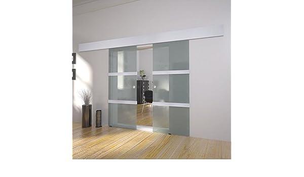 Moderna caja de ducha de aluminio y acero inoxidable para puerta de cubículo doble puerta corredera de cristal con tamaño: 205 x 75 cm, 4 conectores para el riel: Amazon.es: Bricolaje y herramientas