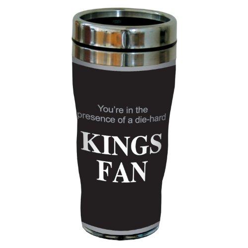 Tree-Free Greetings sg24181 Kings Hockey Fan Sip 'N Go Stainless Steel Lined Travel Tumbler, 16-Ounce