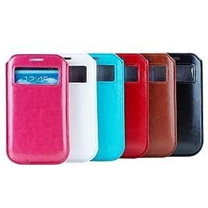 GX Teléfono Móvil Samsung - Bolsas - Diseño Especial - para Samsung S3 I9300/S4 I9500 ( Negro/Blanco/Rojo/Azul/Marrón/Rosa , Cuero PU ) , Rose