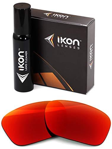 IKON LENSES Polarized Replacement for Costa Del Mar Reefton Sunglasses - Red (Z87 Costa Del Mar)
