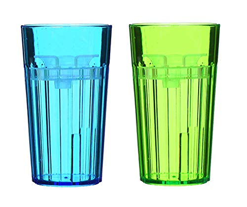 Reflo 360 Rotating Spoutless Training Cup for Baby, Kids and Toddlers - 2 Pack (Blue/Green) (Best Open Cup For Baby)