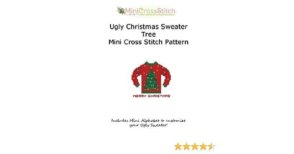 Christmas tree lights seamless pattern, ugly Christmas sweater style