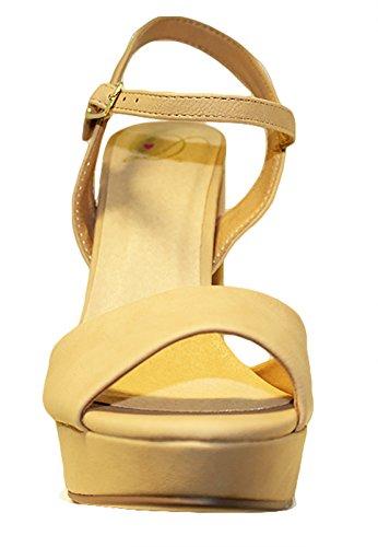 Deliziose Donne Glitter Sandalo Partito, Grosso Blocco Tallone Piattaforma Open Toe Scarpe Mve Scarpe Nubuck Naturale