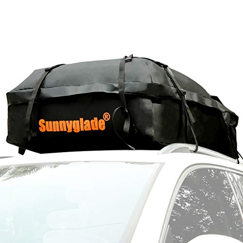 (Sunnyglade Waterproof Roof Top Cargo Bag 15 Cubic Feet The Car Top Carrier Bag Fits All Roof Racks)