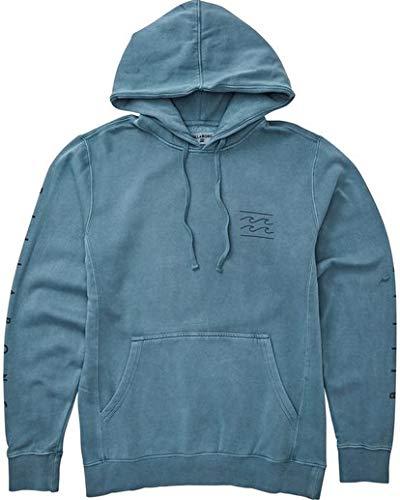 (Billabong Men's Wave Washed Logo Pullover Hoodie Washed Blue Medium)