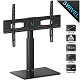Fitueyes Universal TV Stand 50 55 60 inch Flat Curved Screen TV Fit Most 32-60'' Vizio/Sumsung/Sony Tvs Max VESA 400x600 TT105202GB