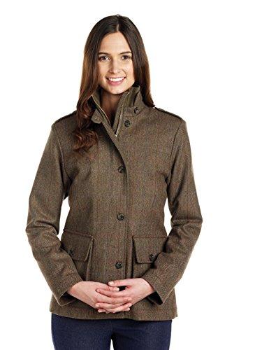 Caldene Women's Kerry Tweed Shooting Jacket - Oak, Size 16
