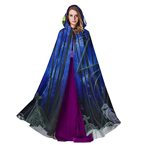 It's Halloween Song Nightmare Before Christmas (Zhangyi The Nightmare Before Christmas Halloween Cloak Hooded Cape with Drawstring Adult Witch Robe 59inch (One Size, The Nightmare Before)