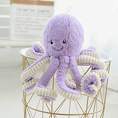 Allenhope Simulation Octopus Plush Stuffed Toy Pillow Cute Animal Doll Children Gifts 15.7 inches Purple: Office Products