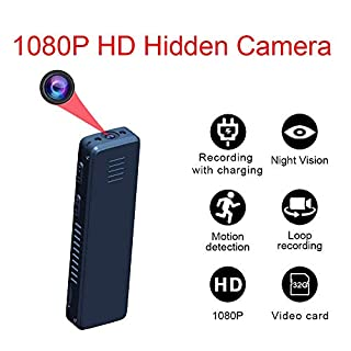 Mini Hidden Camera,1080P Portable Small HD Nanny Cam Night Vision Motion Detective,Perfect Indoor Covert Security Camera Home Office